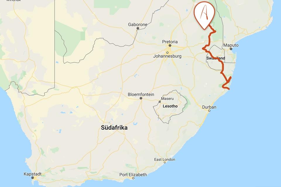 elela-africa-karte-kruger-swasiland-reiseidee